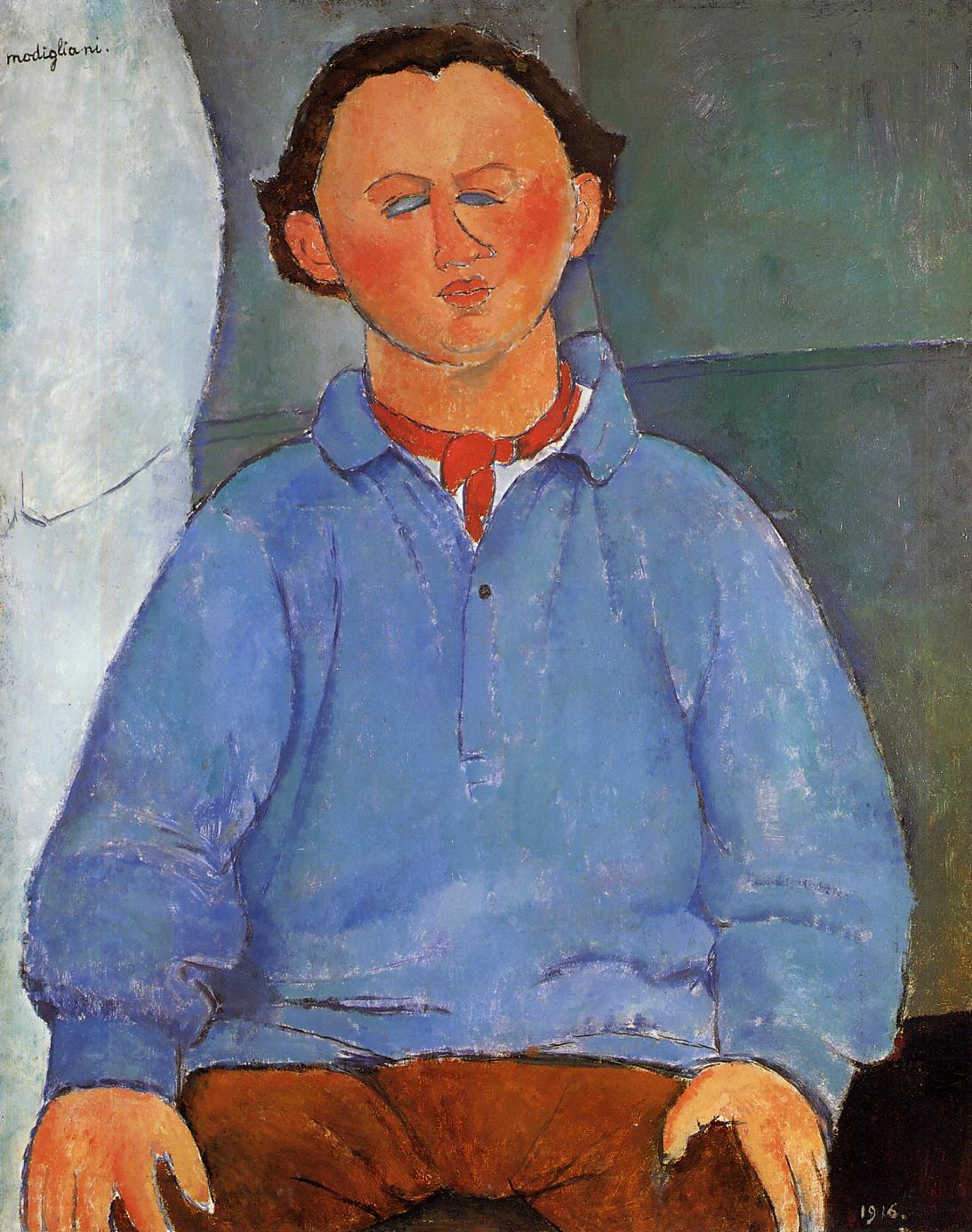 Portrait of Oscar Meistchaninoff 1916 | Amedeo Modigliani | Oil Painting
