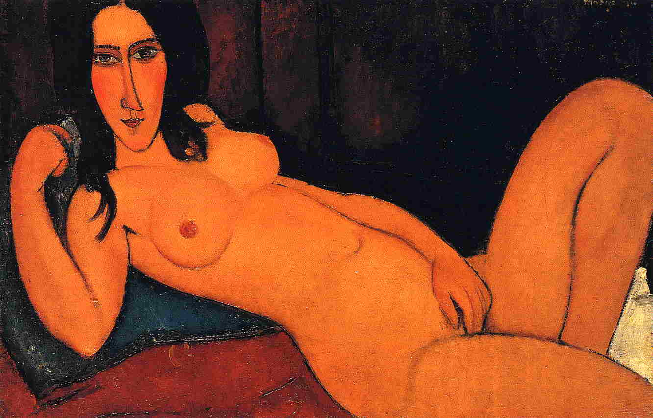 Reclining Nude with Loose Hair 1917 | Amedeo Modigliani | Oil Painting