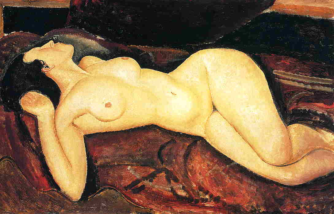 Recumbent Nude 1917 | Amedeo Modigliani | Oil Painting