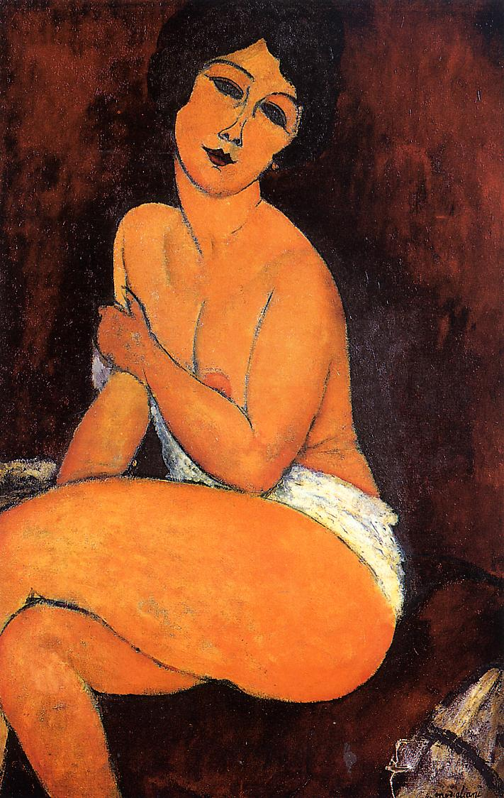 Seated Nude 1917 | Amedeo Modigliani | Oil Painting