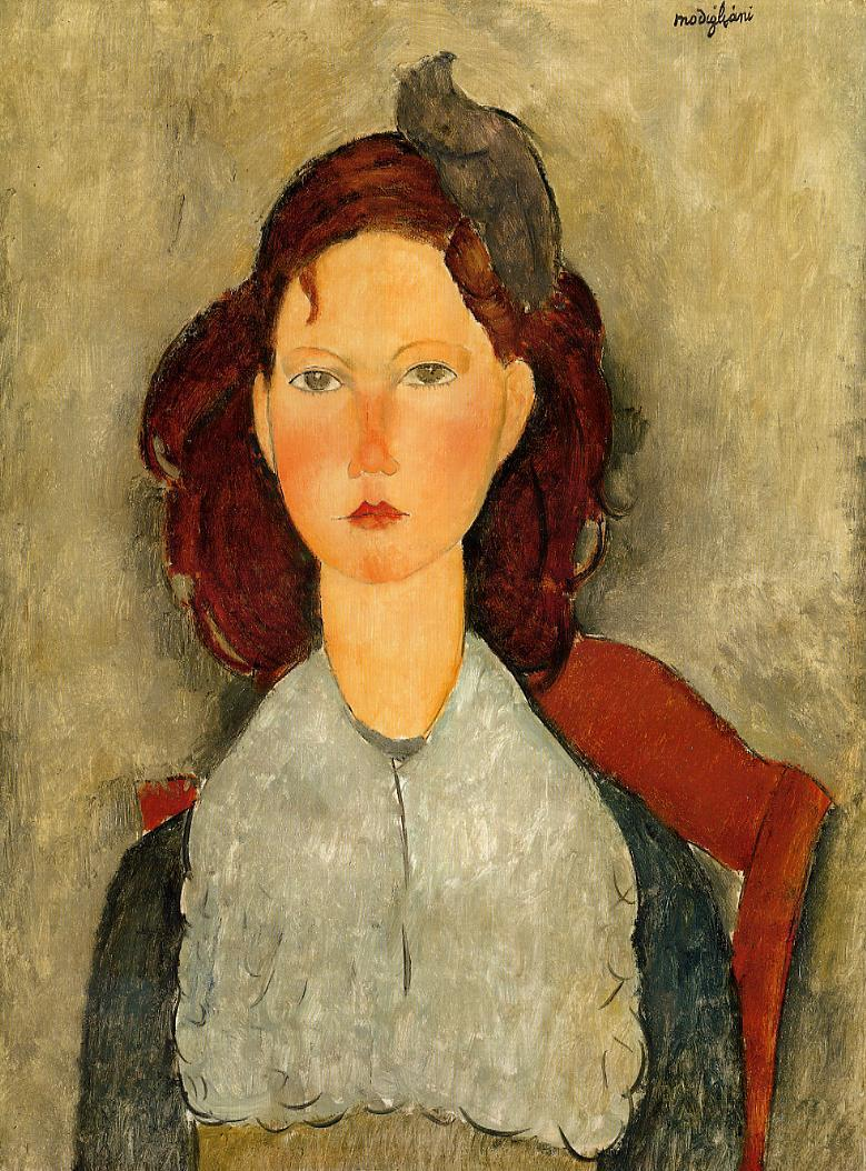 Seated Young Girl 1918 | Amedeo Modigliani | Oil Painting