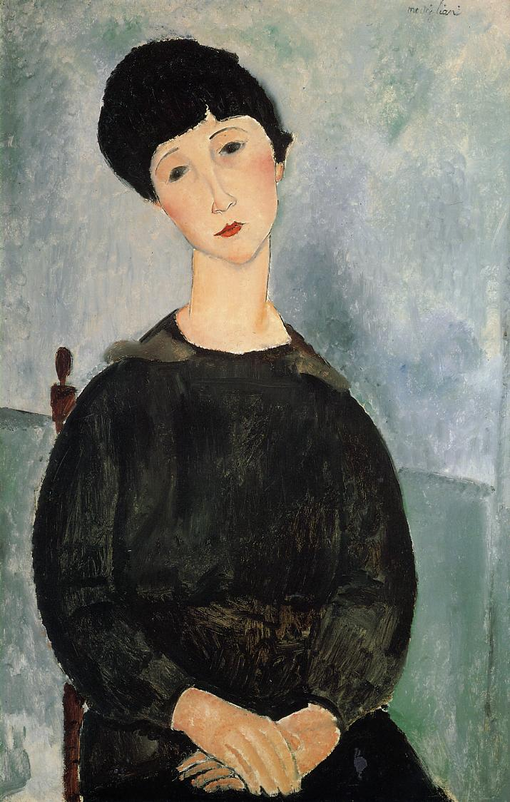 Seated Young Woman 1918 | Amedeo Modigliani | Oil Painting