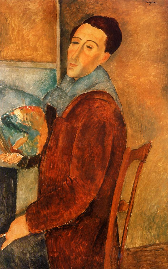 Self Portrait 1919 | Amedeo Modigliani | Oil Painting
