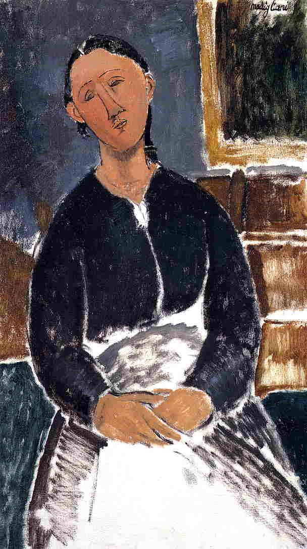 Serving Woman (aka La Fantesca) 1915 | Amedeo Modigliani | Oil Painting
