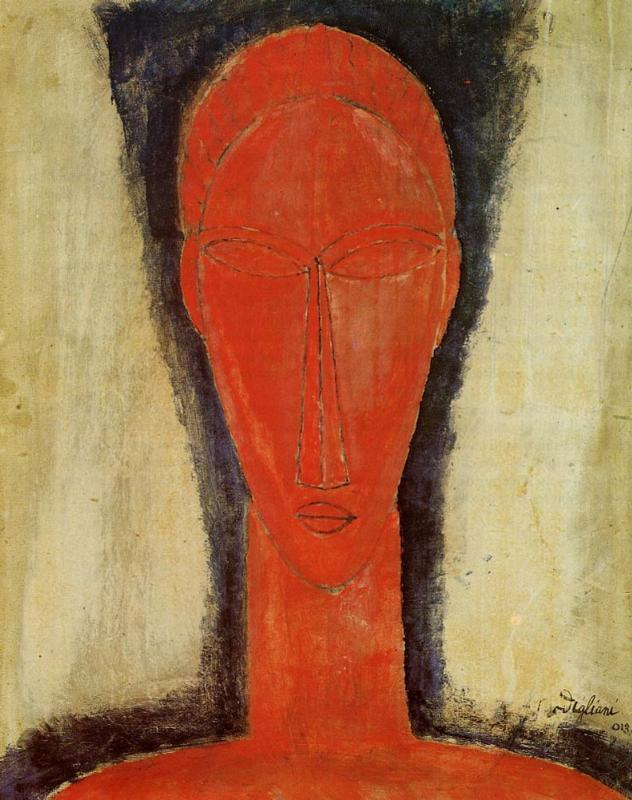 Study of a Head 1913 | Amedeo Modigliani | Oil Painting