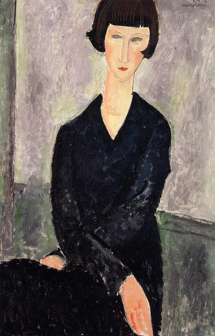 The Black Dress 1918 | Amedeo Modigliani | Oil Painting