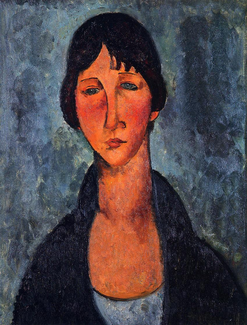 The Blue Blouse 1917 | Amedeo Modigliani | Oil Painting