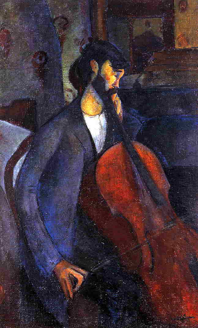 The Cellist 1909 2 | Amedeo Modigliani | Oil Painting
