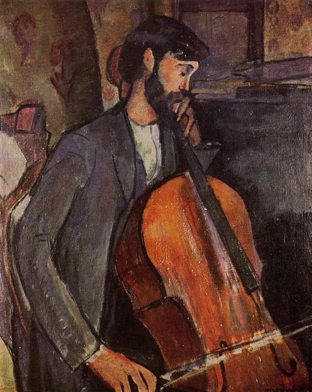 The Cellist 1909 | Amedeo Modigliani | Oil Painting