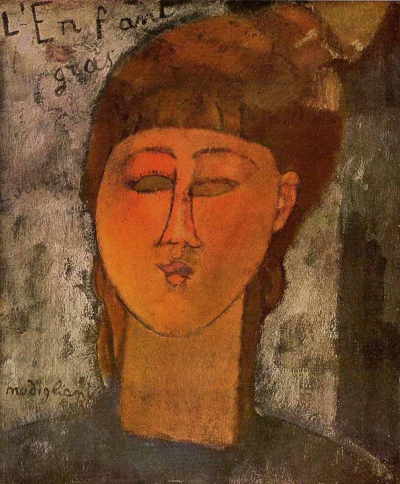 The Fat Child 1915 | Amedeo Modigliani | Oil Painting