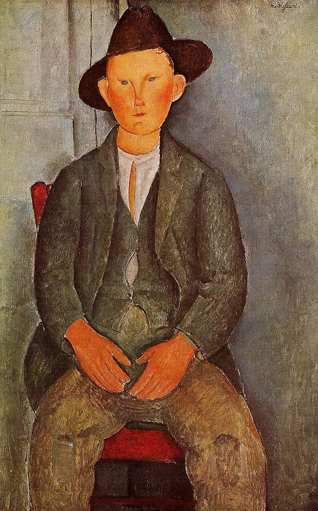 The Little Peasant 1918 | Amedeo Modigliani | Oil Painting