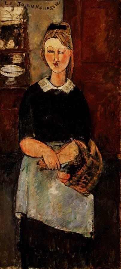 The Pretty Housewife 1915 | Amedeo Modigliani | Oil Painting