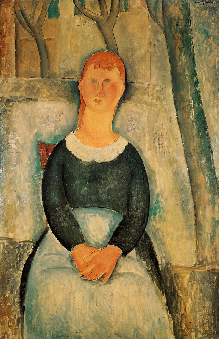 The Pretty Vegetable Vendor 1918 | Amedeo Modigliani | Oil Painting