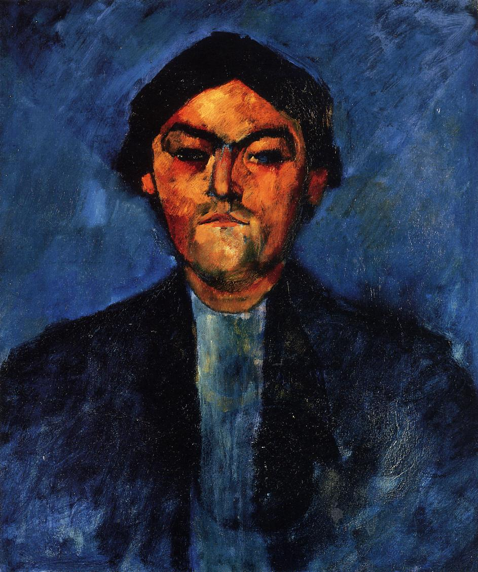 The Typographer (aka Pedro) 1909 | Amedeo Modigliani | Oil Painting