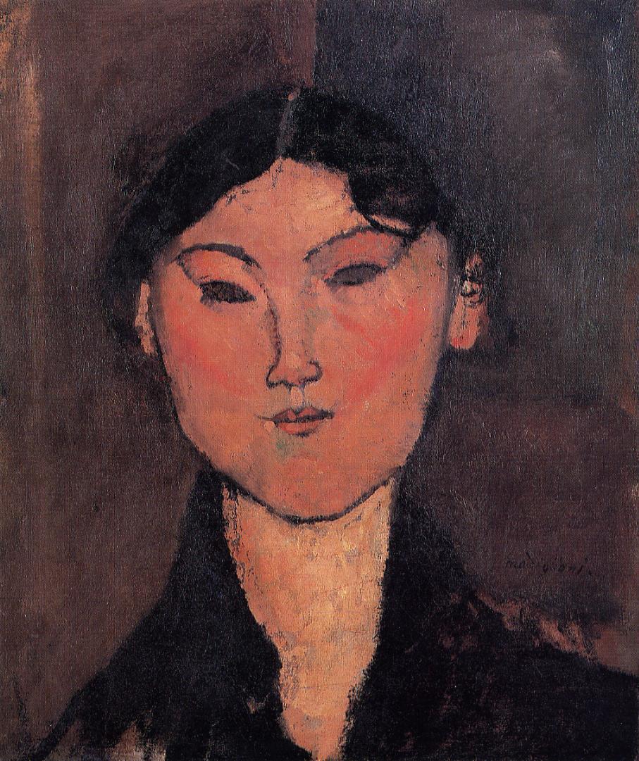 Woman's Head (aka Rosalia) 1915   Amedeo Modigliani   Oil Painting