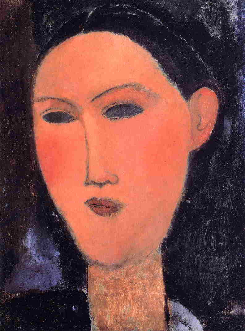 Woman's Head 1915 2 | Amedeo Modigliani | Oil Painting
