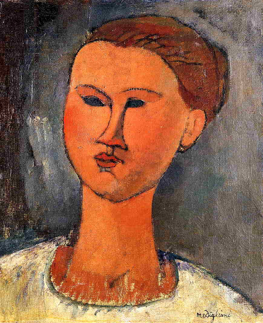 Woman's Head 1915 | Amedeo Modigliani | Oil Painting