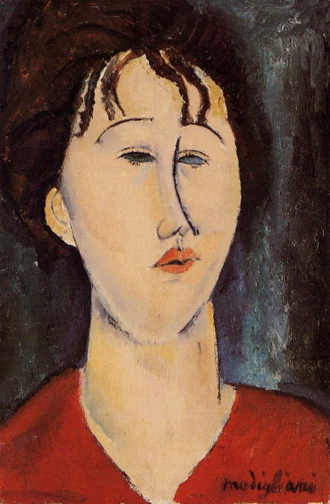 Woman's Head   Amedeo Modigliani   Oil Painting