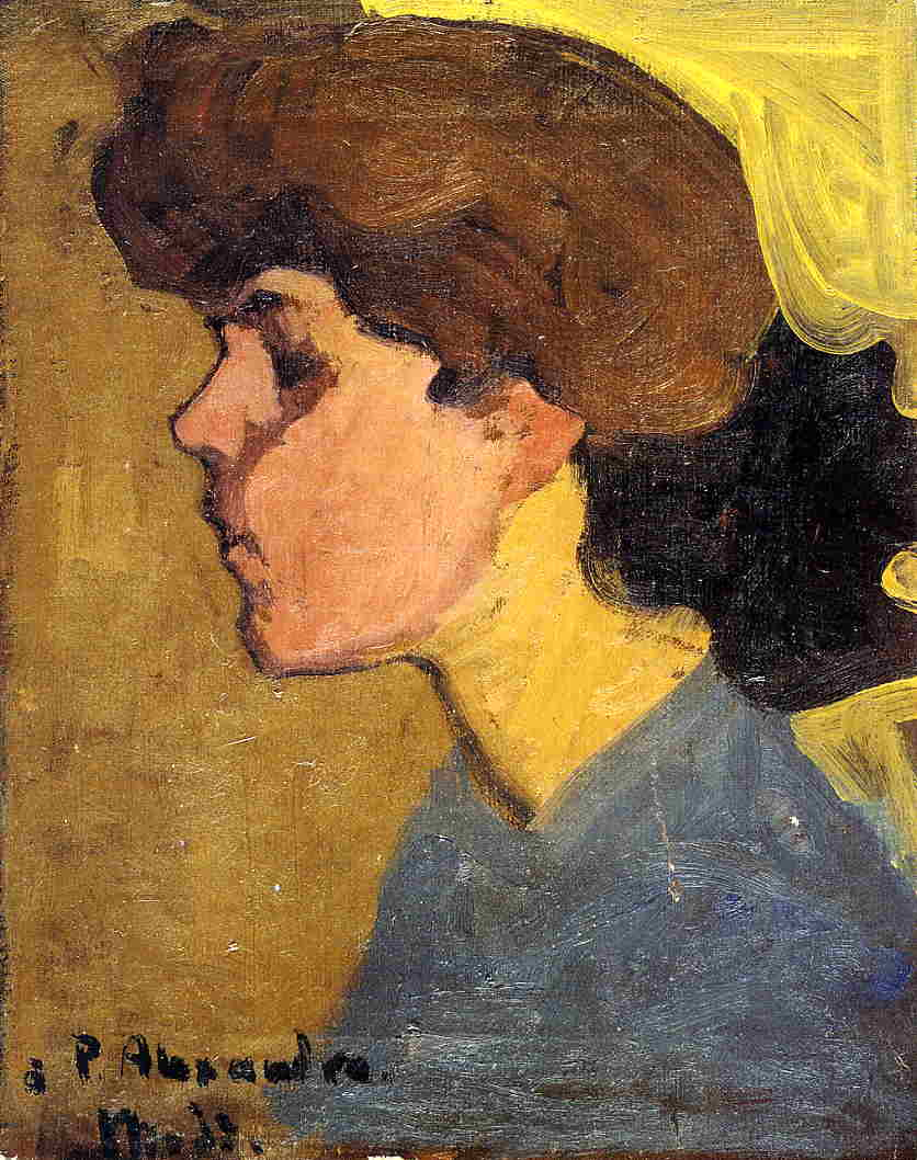Woman's Head in Profile 1907 | Amedeo Modigliani | Oil Painting