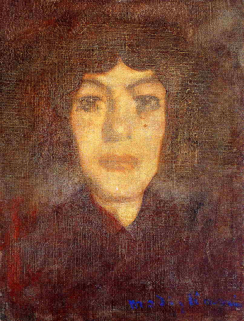 Woman's Head with Beauty Spot 1906 1907 | Amedeo Modigliani | Oil Painting