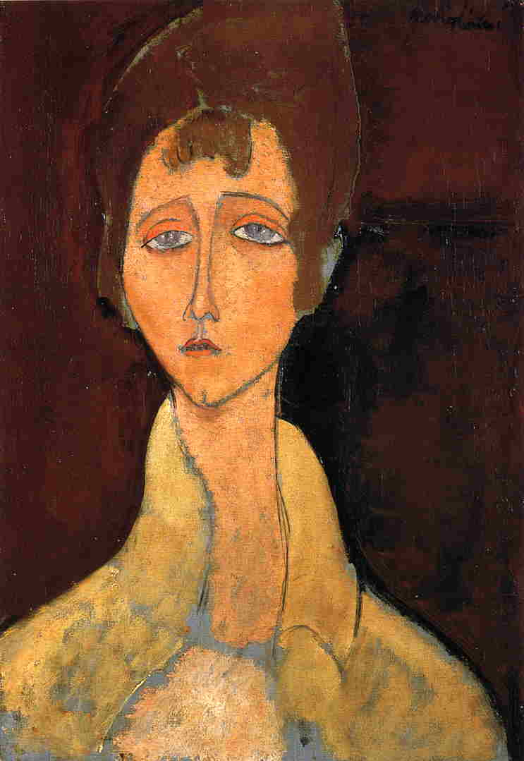Woman in White Coat 1917 | Amedeo Modigliani | Oil Painting