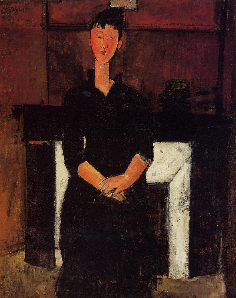 Woman Seated in front of a Fireplace 1915 | Amedeo Modigliani | Oil Painting