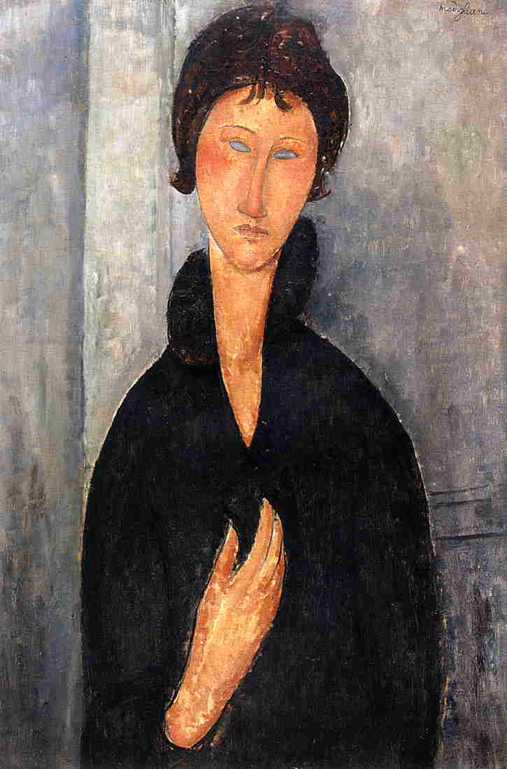 Woman with Blue Eyes 1919 | Amedeo Modigliani | Oil Painting