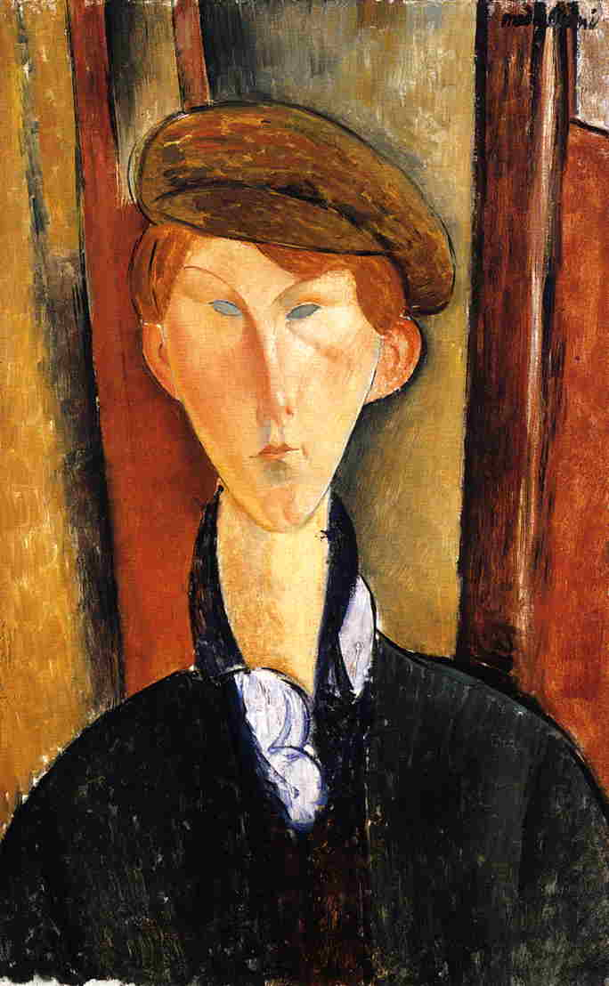 Young Man with Cap 1919 | Amedeo Modigliani | Oil Painting