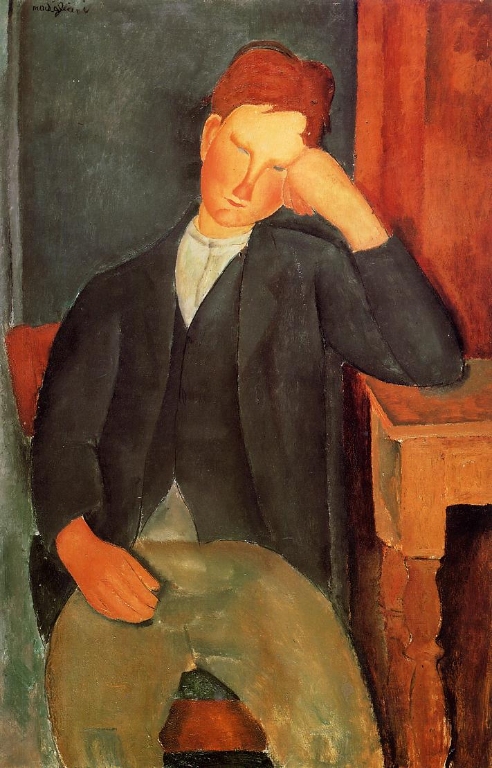 Young Peasant (aka The Young Apprentice) 1918 | Amedeo Modigliani | Oil Painting