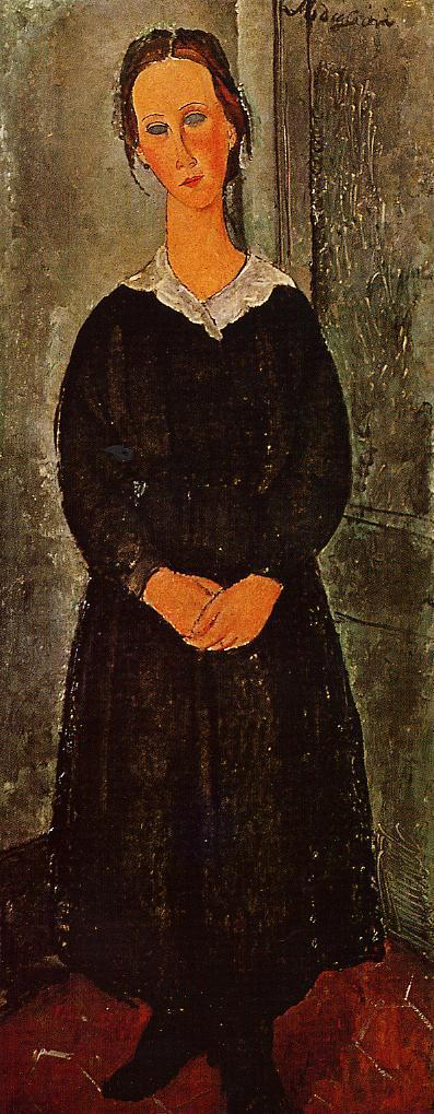 Young Servant Girl 1919 | Amedeo Modigliani | Oil Painting