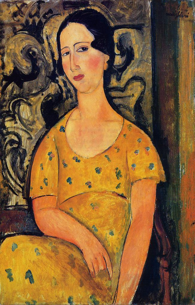 Young Woman in a Yellow Dress (aka Madame Modot) 1918 | Amedeo Modigliani | Oil Painting