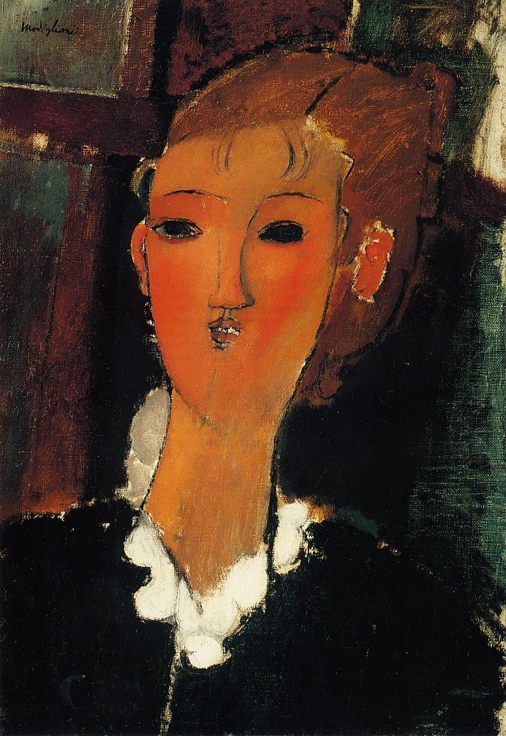 Young Woman with a Small Ruff 1915 | Amedeo Modigliani | Oil Painting