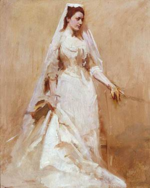 A Bride About 1895 | Abbott Handerson Thayer | Oil Painting