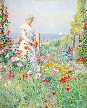 Celia Thaxter In Her Garden 1892 | Childe Hassam | Oil Painting