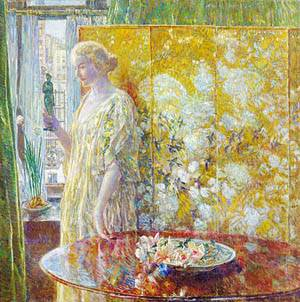 Tanagra (The Builders New York) 1918 | Childe Hassam | Oil Painting