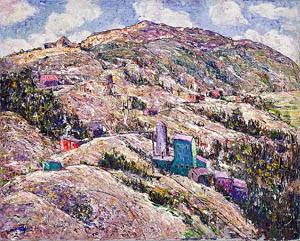 Gold Mining Cripple Creek 1929 | Ernest Lawson xx Gold Mining Cripple Creek 1929 | Oil Painting