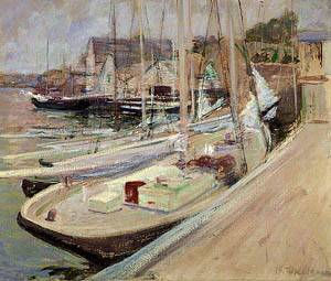 Fishing Boats At Gloucester 1901 | John Henry Twachtman | Oil Painting