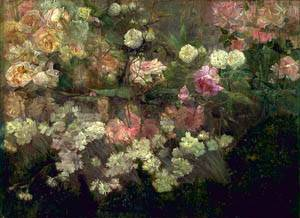 Garden In May 1895 | Maria Oakey Dewing | Oil Painting