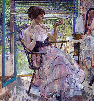 The Necklace About 1924 | Richard E Miller | Oil Painting