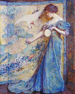 The Mirror About 1910 | Robert Reid | Oil Painting