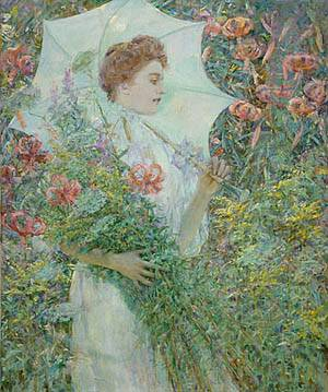 The White Parasol About 1907 | Robert Reid | Oil Painting