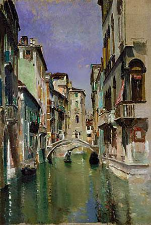 Canal In Venice San Trovaso Quarter About 1885 | Rober Frederick Blum | Oil Painting