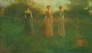 In The Garden 1892 1894 | Thomas Wilmer Dewing | Oil Painting