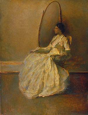 Lady In White (No. 1) About 1910 | Thomas Wilmer Dewing | Oil Painting