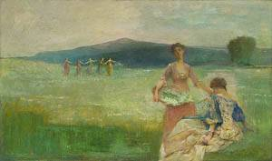 Spring 1890 | Thomas Wilmer Dewing | Oil Painting