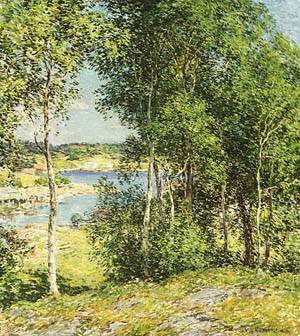 A Family Of Birches 1907 | Willard L Metcalf | Oil Painting