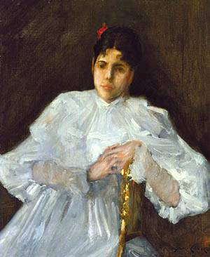 Girl In White About 1890 | William Merritt Chase | Oil Painting