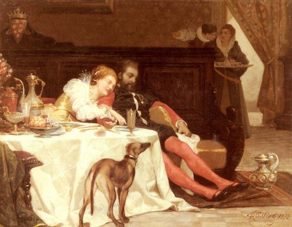 La Morte Di Bianca Capella | Amos Cassioli | Oil Painting