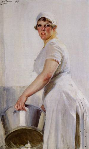 A Kitchen Maid  1919 | Anders Zorn | Oil Painting