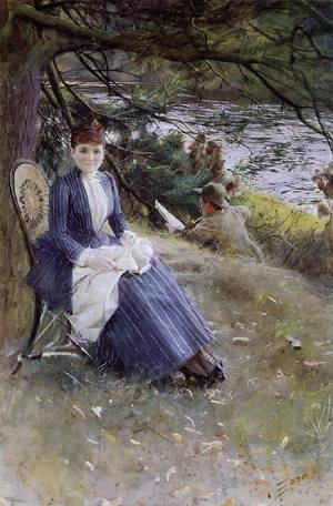 In Scotland (aka Mrs Symons)  1887 | Anders Zorn | Oil Painting
